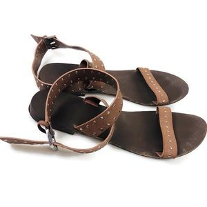 5 for $30 Forever 21 Brown Strappy Sandals Size 10